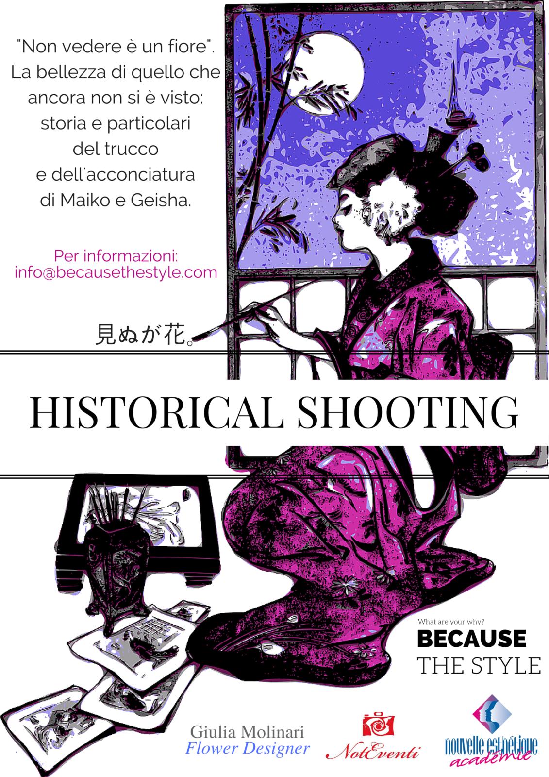 Geisha Historical Shooting - MakeUp & Hairstyle Nouvelle Esthetique Academie; photo Michele Carnimeo Fotografo - Copyright Nouvelle EstHètique Académie All Rights Reserved