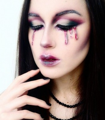 blood-sangue-tears-lacrime-makeup-trucco