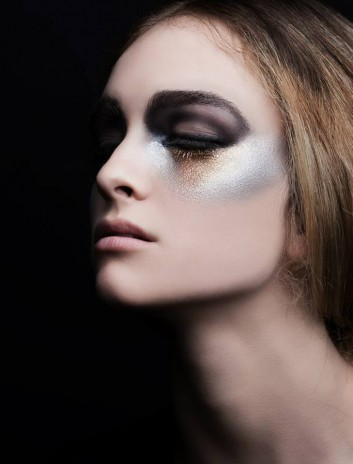 creative-makeup-trucco-black-gold-silver