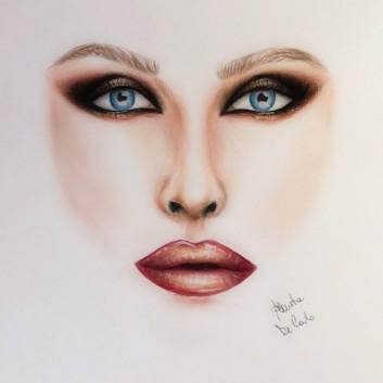 face-chart-makeup-trucco-disegno