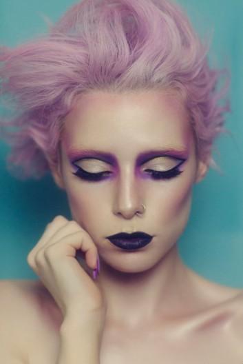 makeup-hair-capelli-trucco-rosa