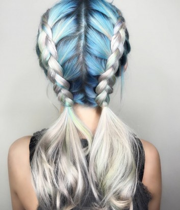 metallic-blue-metallizzato-blu-braids-trecce-hair-capelli