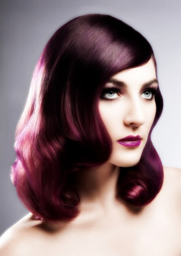 retro-waves-makeup-magenta-vintage-beauty